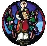 L'iconographie le représentent, en habit de diacre portant l'évangéliaire (proclamé par lui au cours de la messe) et la palme du martyre. Il est encadré de deux ceps de vigne portant des grappes de raisins. cette reproduction est celle d'un vitrail de l'église St-Pierre-St-Paul de Clamart (92),