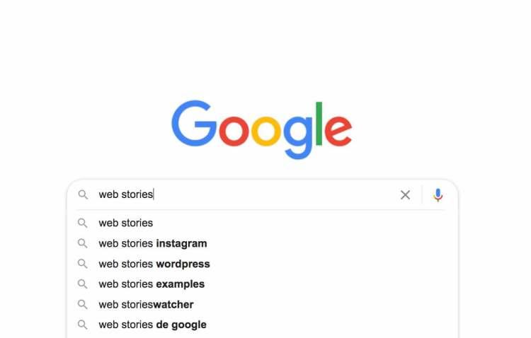Vista previa del buscador de Google con el término de Web Stories