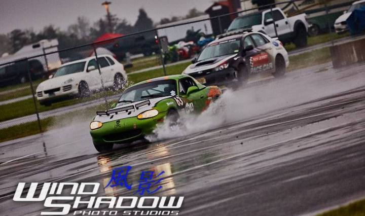 Miata racing in the rain photo by Windshadow Studios