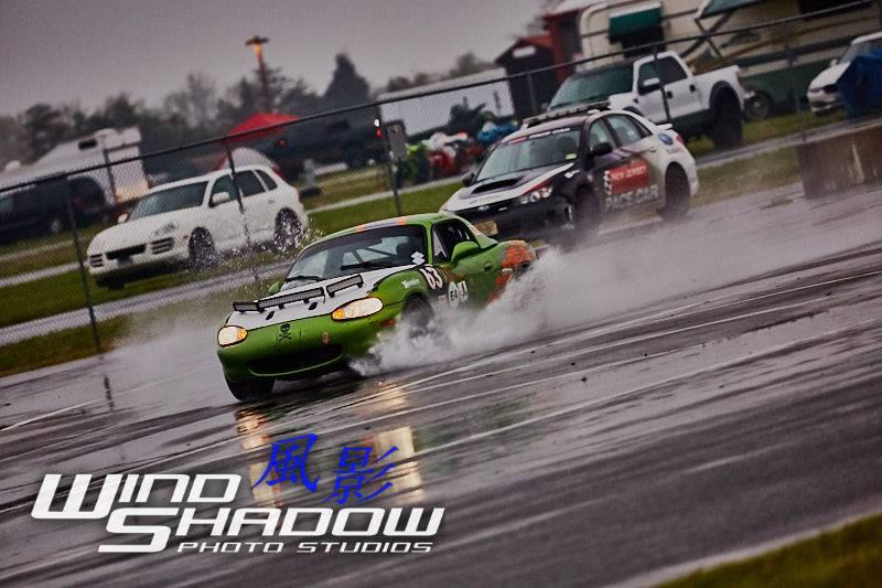 Miata racing in the rain photo by Windshadow Studios