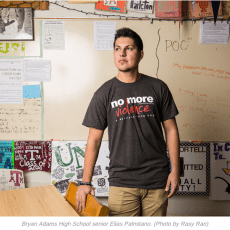 Lakewood Advocate features NMV: Student fights violence from Argentina to Bryan Adams