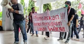 Pertanyakan Proses Ganti Rugi Lahan Tol Balsam, GMNI Geruduk DPRD Balikpapan