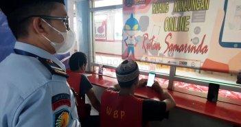 Rutan Samarinda Perbolehkan Warga Binaan Silaturahmi Via Online
