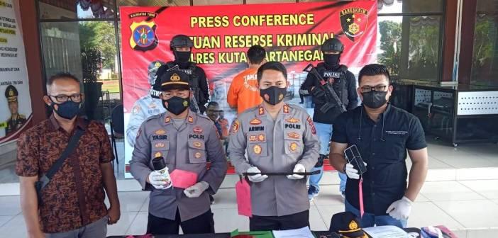 Bobol ATM dan Aniaya Pekerja Warung Kopi, Polres Kukar Jerat AK Pasal Berlapis
