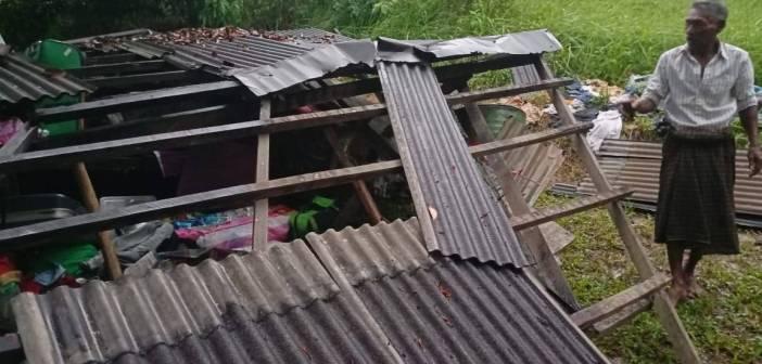 15 Tahun Berdiri, Rumah Milik Pasutri Lansia Roboh Diterpa Hujan Lebat