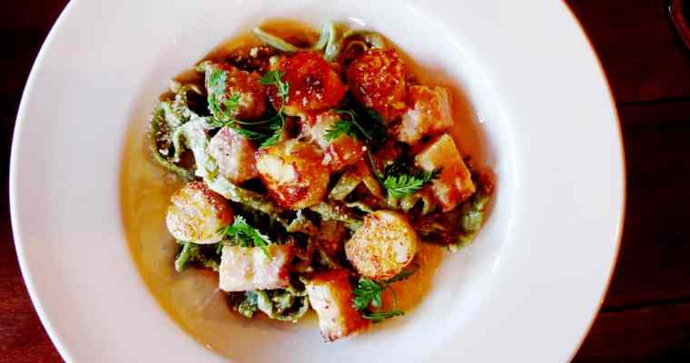 Good Wolfe Kitchen & Bar Vancouver Yaletown | Scallop Carbonara x Calamari