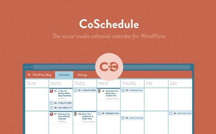 CoSchedule Best Blogging Tool Calender Schedule Nomss Plugin WordPress