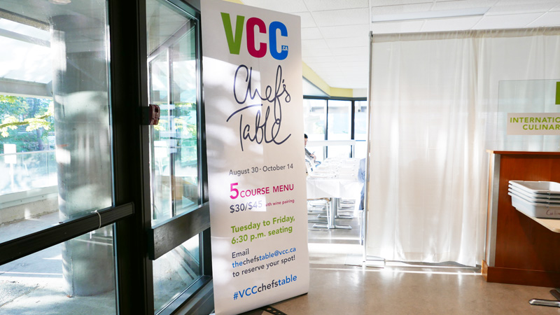 VCC Chefs Table Pop Up Dinner Vancouver Culinary Arts Instanomss Nomss Delicious Food Photography Healthy Travel Lifestyle Canada