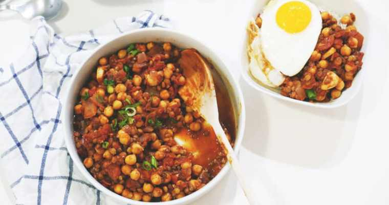 Moroccan Chickpea and Lentils Tagine Recipe