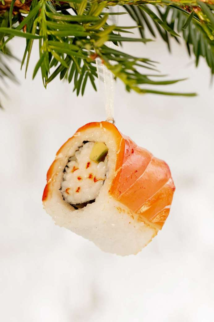 Sushi Sashimi christmas Tree decorations for the Heart Eyed Foodie