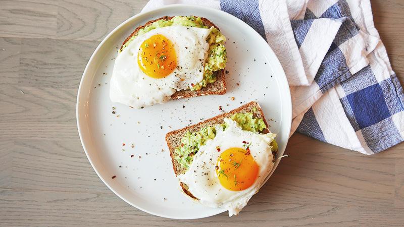 Avocado Toast with Fried Eggs