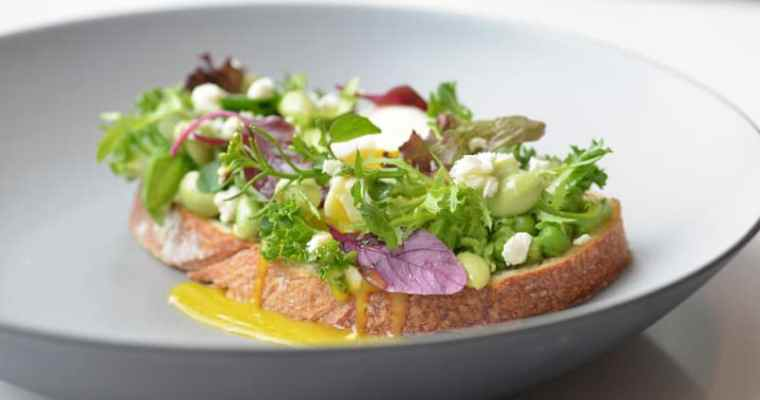 Fairmont Waterfront | Spring Pea Toast at ARC Restaurant