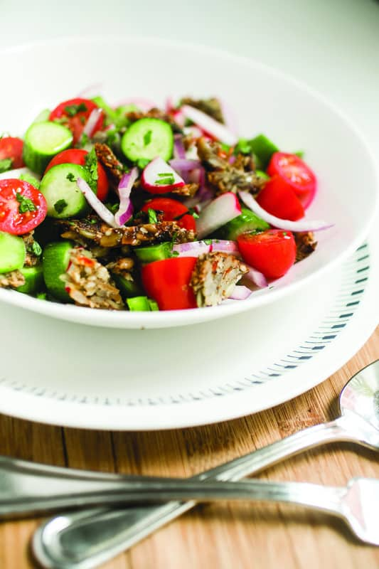 Super Seedy Fattoush Salad | EAT AT HOME COOKBOOK