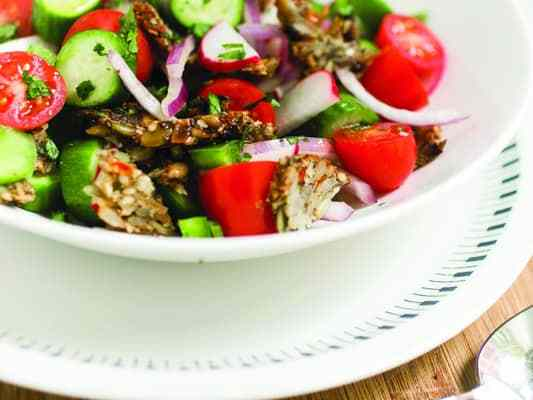 Super Seedy Fattoush Salad | EAT AT HOME COOKBOOK
