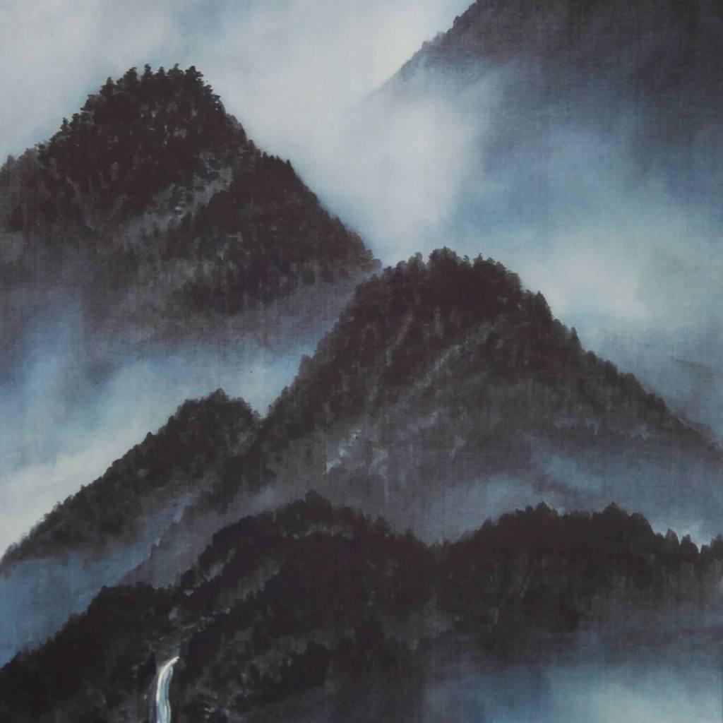 0019 Landscape Painting in Sumi (ink) / Yuri Tezuka 004