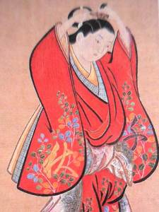 Artist: Kiyonobu Torii / Title Beautiful Woman Setting Her Hair
