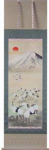 Mt. Fuji with cranes