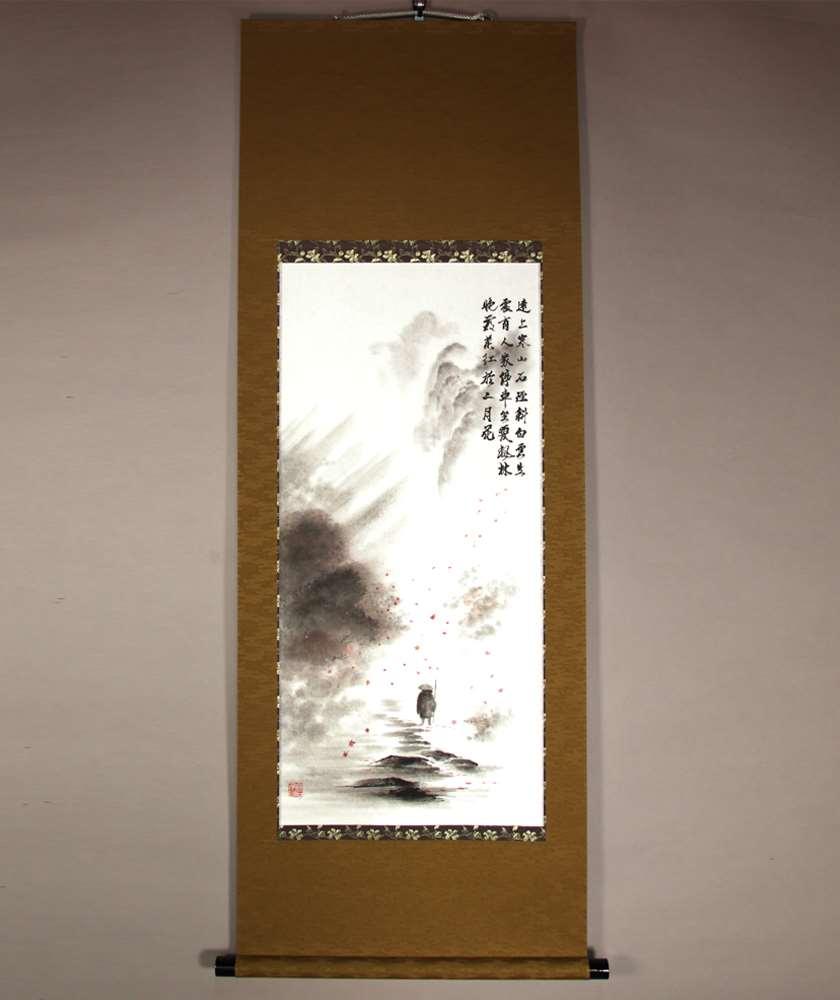 tokonoma bonsai kakejiku mounting