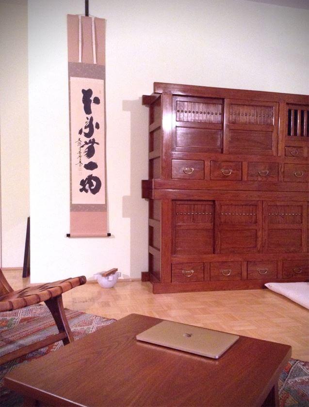 taigen kobayashi hanging scroll honrai muichimotsu