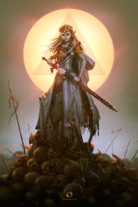 """""""Zelda Conquers the Dark World"""" by Eranfolio"""