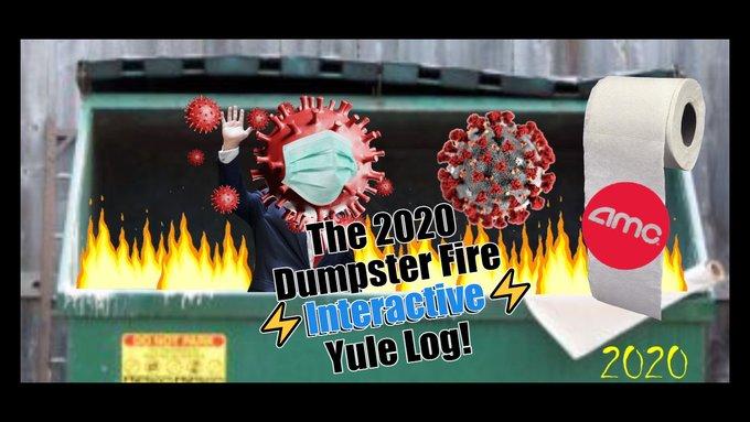 It's an Interactive Dumpster Fire Yule Log
