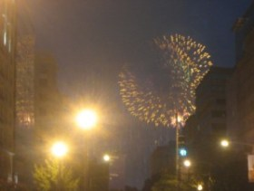 The fireworks show