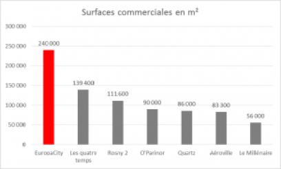 Surfaces commerciales en Ile de France