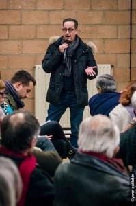 Kamel Lakal, commerçant à Aulnay-sous-Bois réunion du 7 mars à Aulnay-sous-Bois - Crédits photos @Yann Guillotin