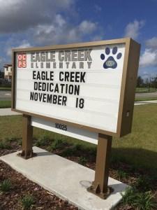 Eagle Creek Dedication