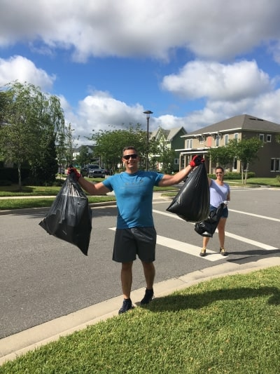 Two bags of litter gone from our waterways