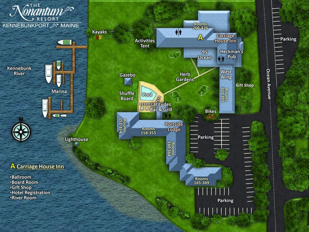 Kennebunkport resort map