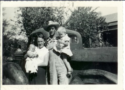 Jim, Elsa, with Jennell and Jim Jr.