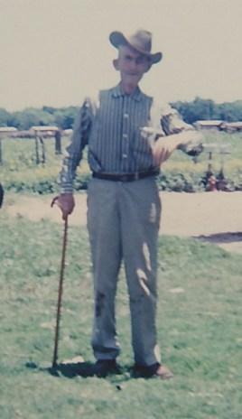 Gr Grandpa and his cane.