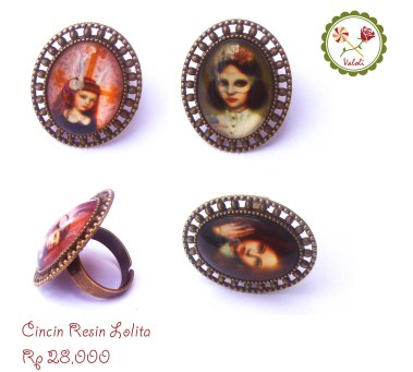 Cincin Resin Lolita Adjustable size Sempurna untuk menegaskan fashion Lolita mu