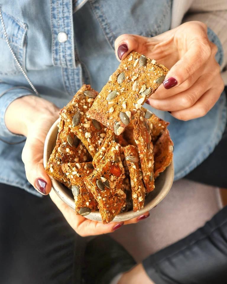 Cracker farina di ceci zucca carote: Preparazione - Non Chiamatela Dieta