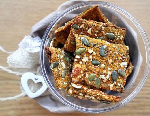 Cracker farina di ceci zucca carote - Non Chiamatela Dieta