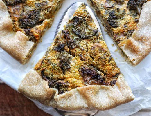 Torta salata alla zucca, funghi e broccoletti - Non Chiamatela Dieta