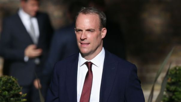 Dominic Raab has been called to Downing Street