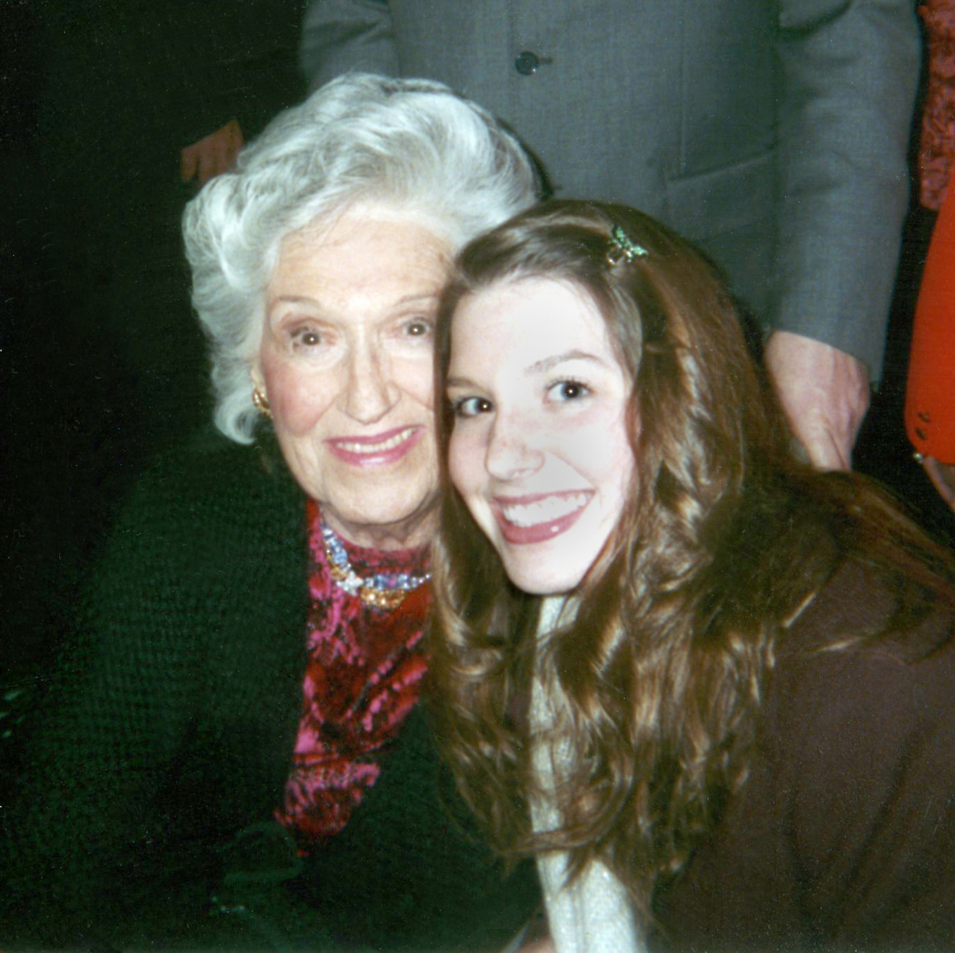 Risë Stevens poses with a young Gen-Y fan, New York City (2006).