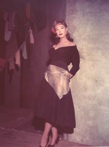 Risë Stevens as Carmen, her signature role at the Metropolitan Opera for 20+ years.