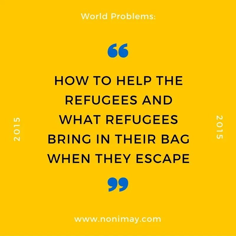 How to help the refugees and what refugees