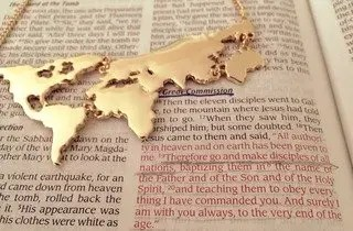 Shop this awesome world map necklace now!