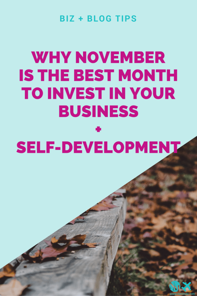 Why November is the best month to invest in your business + self development