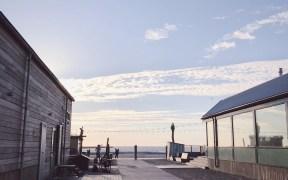 Strandhuisje in Ijmuiden strand dutch dunes