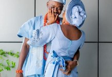 Simi shares official photo from her wedding to celebrate Adekunle Gold's birthday