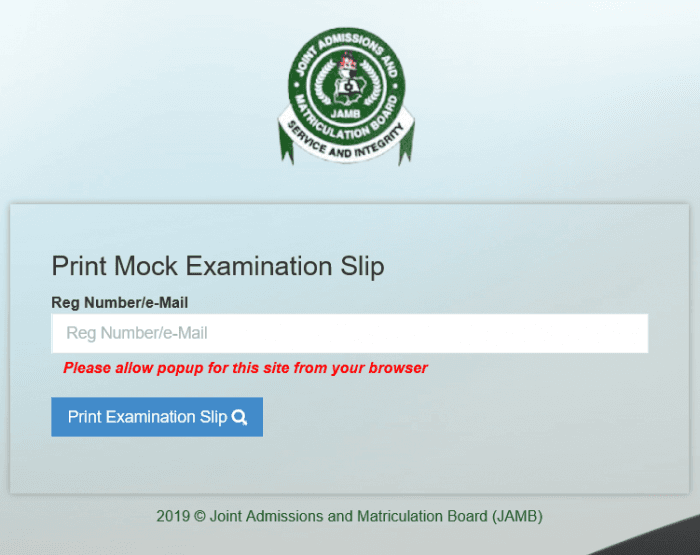 Steps On How to Check and Reprint JAMB 2019 Mock Exam Slip