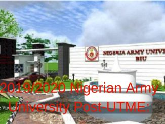 2019/2020 Nigerian Army University Post-UTME: