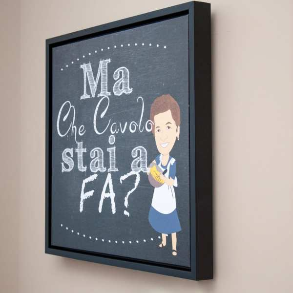 personalized art on stretched canvas in floating frame