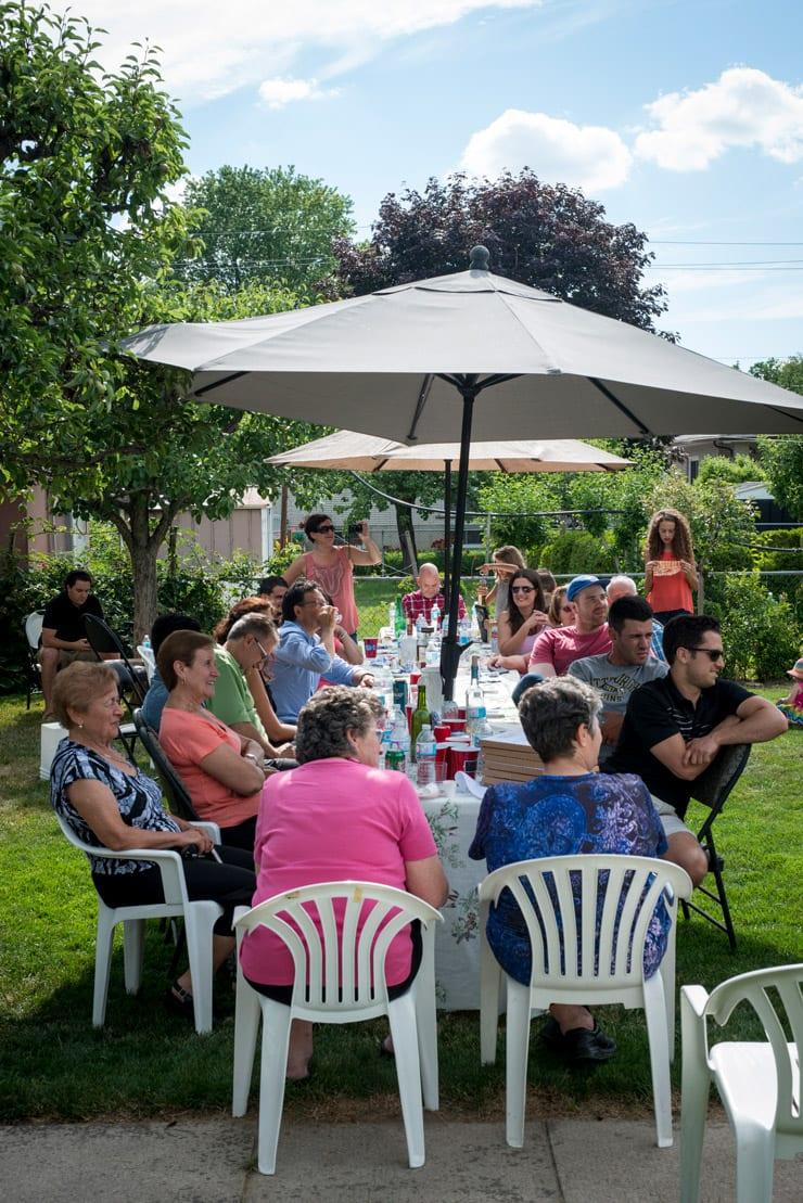 lunch in nonnos garden