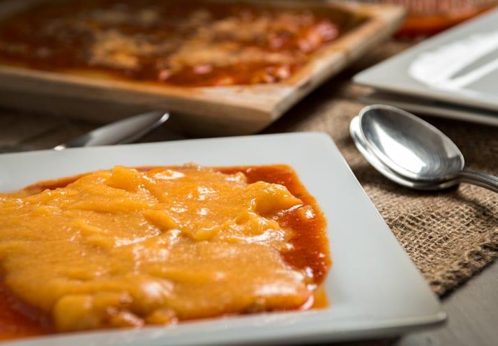 Italian polenta recipe with sauce
